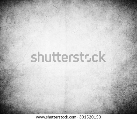 black white old paper grunge texture background - stock photo