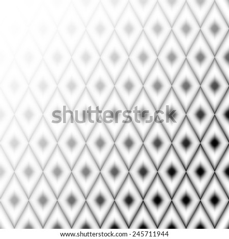 black white pattern with grey rhombus on ash background. raster