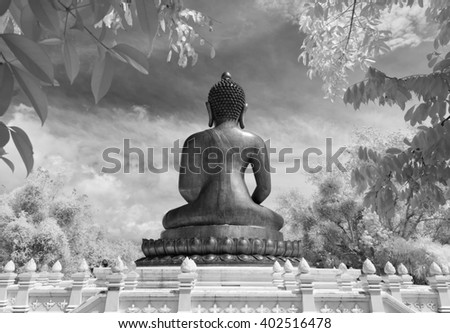 Black & White, Thailand taken in Near Infrared - stock photo