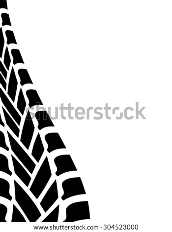 black white tire track background - stock photo
