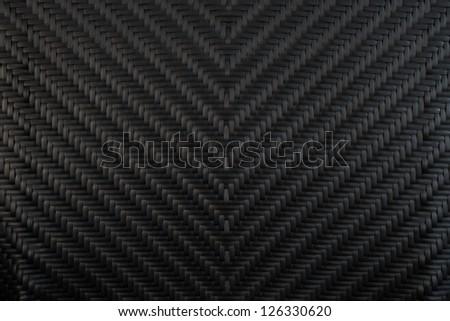 black wicker background - stock photo