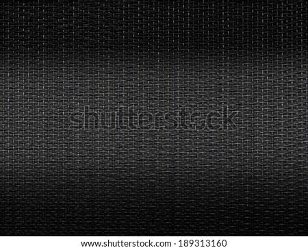 Black wicker canvas - stock photo