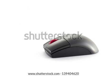 Black wireless mouse - stock photo