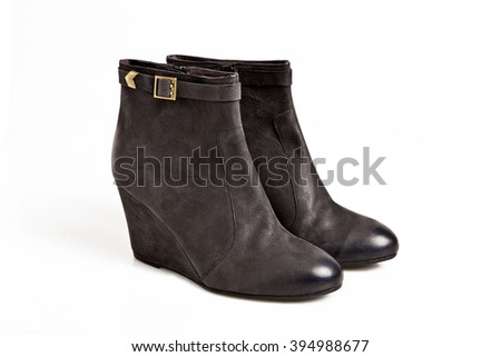 black woman shoe