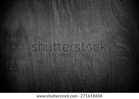 black wood background - stock photo