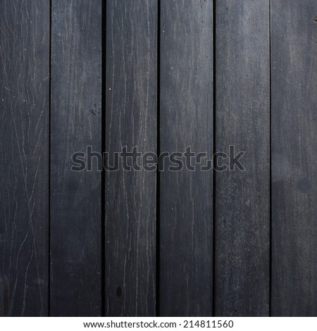 black wood plank texture background - stock photo