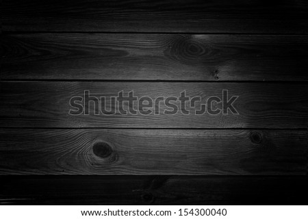 Black wood texture - stock photo