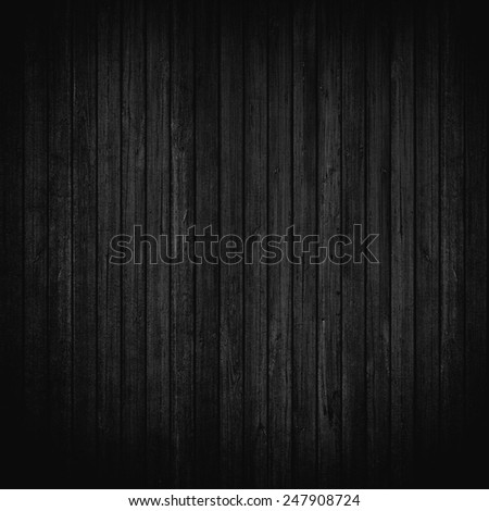 Black wood wall background - stock photo