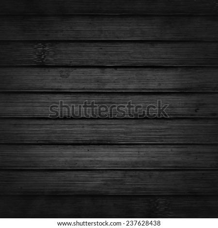 black wooden slats background - stock photo