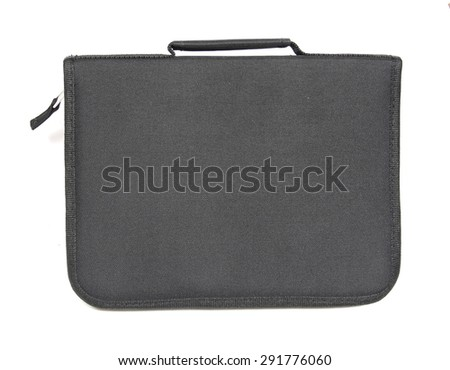 black zip folder organizer - stock photo