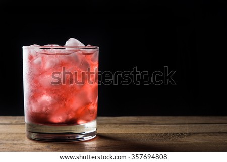 Blackberry cocktail - stock photo