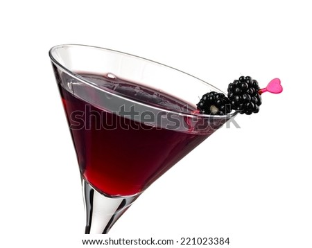 Blackberry cocktail, close up - stock photo