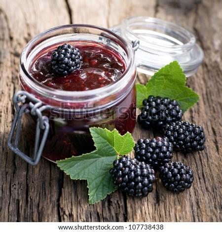Blackberry jam stock images royalty free images vectors for Blackberry pear jam