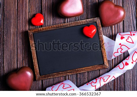 blackboard and hearts