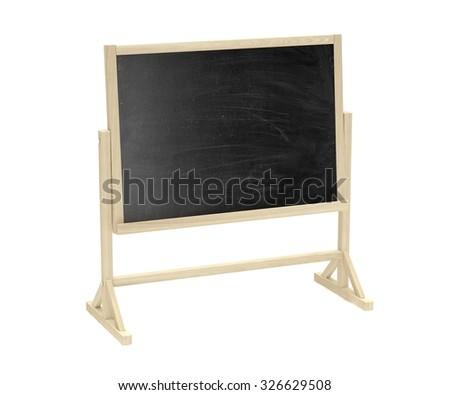 blackboard, chalkboard isolated on white - stock photo