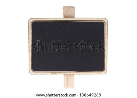 Blackboard / chalkboard texture. Empty blank black chalkboard isolated on white with work path - stock photo