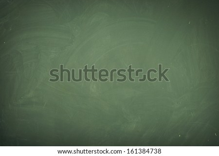 Blackboard ( chalkboard ) texture. Empty blank black chalkboard with chalk traces - stock photo