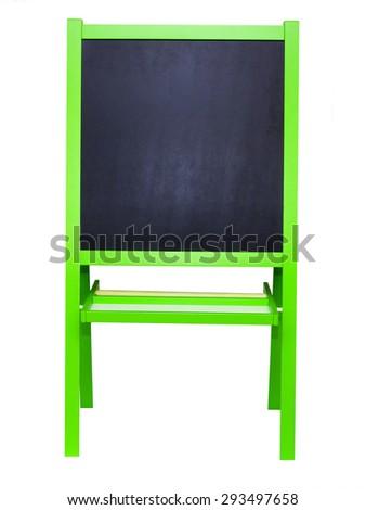 blackboard easel - stock photo