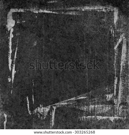 blackboard grunge background black paper parchment texture and bright scratches frame - stock photo