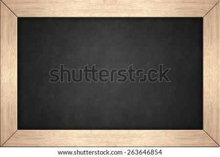 blackboard in wooden frame - stock photo