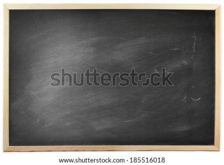 Blackboard isolated on a plain background - stock photo