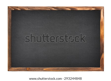 blackboard isolated on white background - stock photo