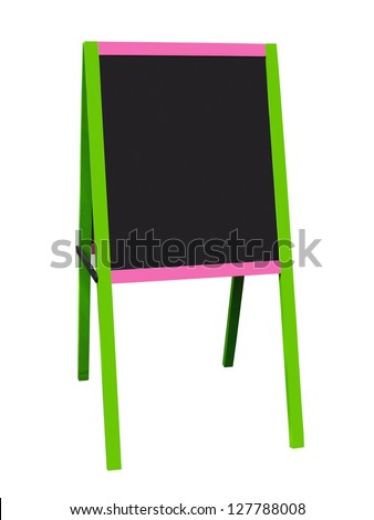 Blackboard isolated on white with clipping path saved - stock photo