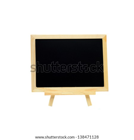Blackboard on a white background.
