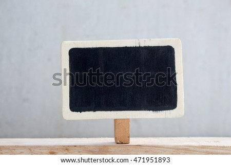 Blackboard on the wood wall