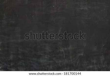Blackboard texture background, chalk rubbed - stock photo