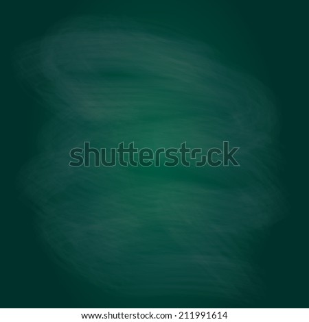 Blackboard texture or background. Chalk rubbed out on green blank chalkboard.  - stock photo