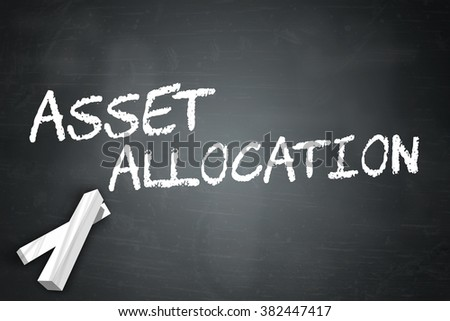 Blackboard with Asset Allocation wording