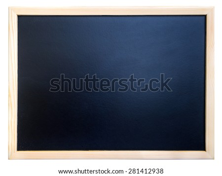 blackboard with frame isolated on white - stock photo