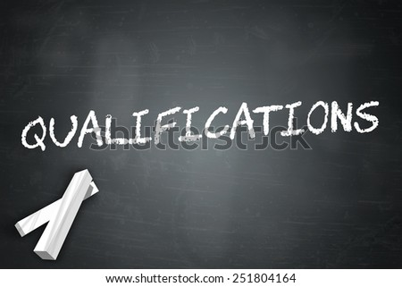 Blackboard with Qualifications wording