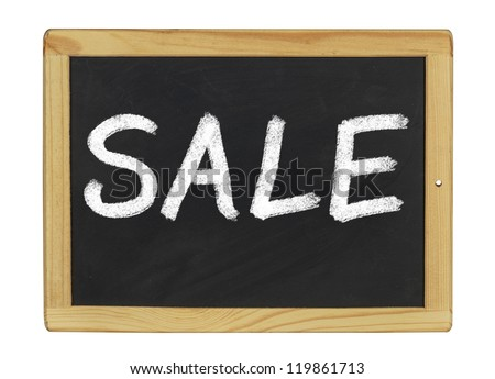 blackboard with Sale written on it
