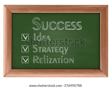 Blackboard with Success. Image with clipping path
