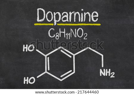 Taurín a stimulanty Stock-photo-blackboard-with-the-chemical-formula-of-dopamine-217644460
