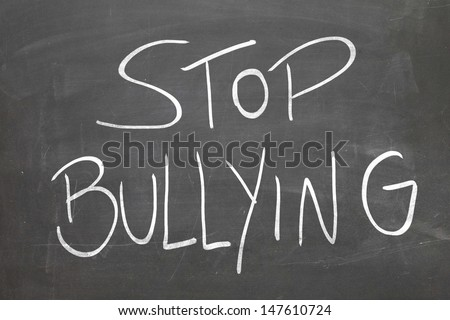 Blackboard with the text - Stop Bullying - stock photo