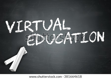 Blackboard with Virtual Education wording
