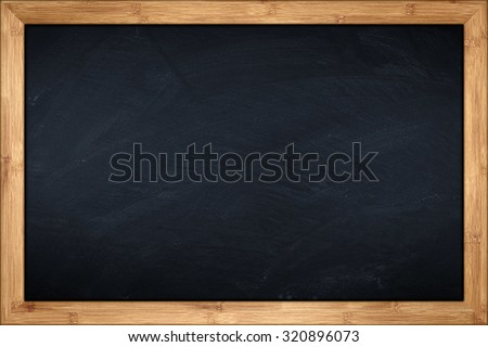 blackboard with wooden bamboo frame