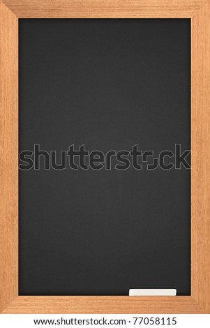 blackboard with wooden frame and are colored white pastel