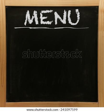 Blackboard Wooden Frame Menu Title Stock Illustration 241097599 ...