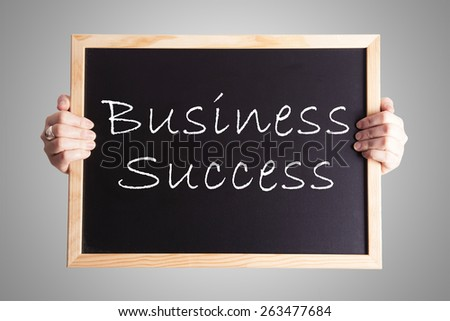 blackboard write Business Success - stock photo