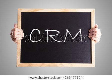 blackboard write CRM - stock photo