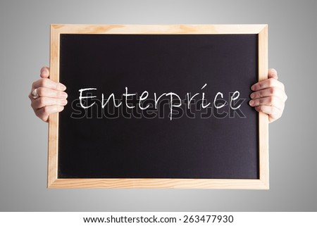 blackboard write Enterprice - stock photo