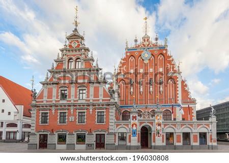 Blackheads House in Riga - stock photo