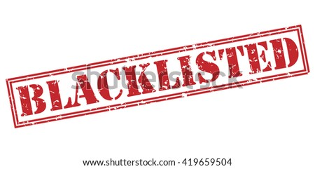 Blacklisted stamp - stock photo
