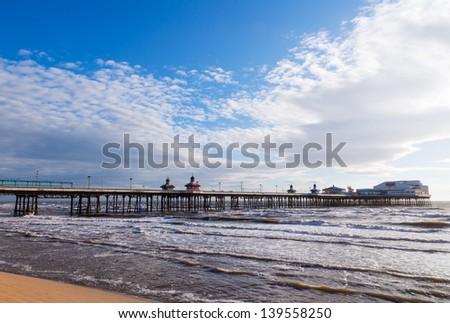 Blackpool North Pier, Lancashire, England, UK - stock photo