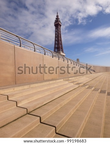Blackpool tower and new promenade