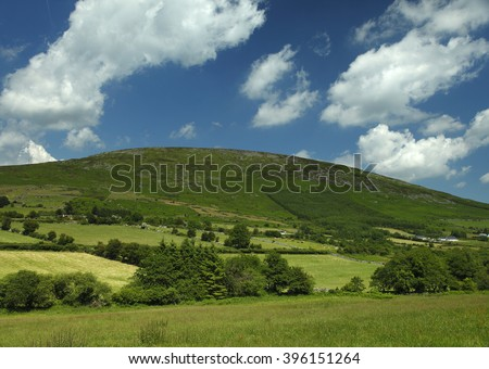 Blackstairs mountains in County Carlow in Ireland